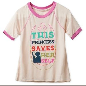 "Princess Leia ""This Princess Saves Herself""Tee-XXL"